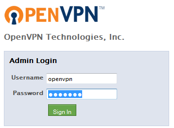 how to set up open vpn with username password