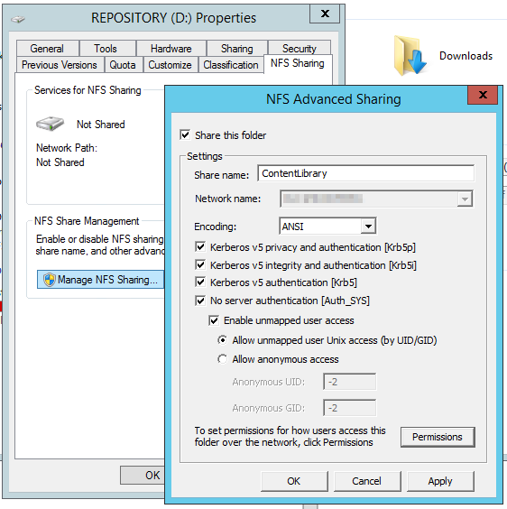 vCenter 6 0 Content Library on Windows 2012 R2 Hosted NFS – nokitel