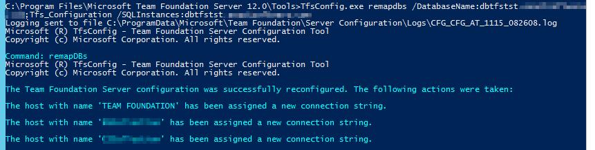 Migrate Team Foundation Server 2013 SQL Server to Another SQL Server