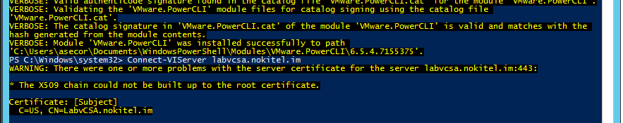 The module XYZ cannot be installed because the catalog